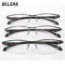 <b>Bclear</b> New Men Business Eyeglasses Frame Half Rim <b>Brand</b> ...