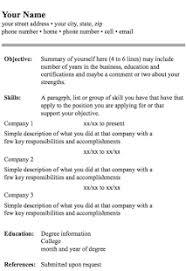 resume format screenshot thumbnail google resume format