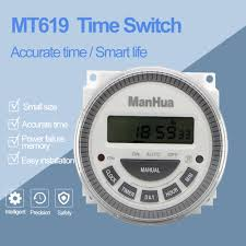 <b>ManHua</b> Multipurpose MT619 12VDC/220VAC Digital <b>Timer Switch</b> ...
