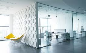 futuristic themes decorating office design nice clear glass tempered wall white finish stained charming wallpaper office 2 modern