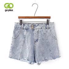 2019 <b>GOPLUS Summer Denim Shorts</b> Women Vintage Casual High ...