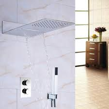thermostatic brand bathroom: thermostatic mixer waterfall rain shower head faucet hand shower sprayerchina mainland