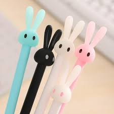 <b>4pcs</b>/<b>Lot Cute</b> Rabbit Ball Point Pen Ballpoint <b>Creative</b> Stationery ...