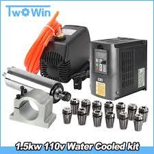 1.5kw 110v <b>Water Cooled Spindle</b> Motor CNC Kit+1.5kw inverter+ ...