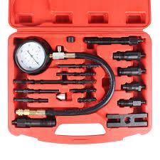 <b>17 pcs Diesel</b> Engine Compression Test Tester Gauge Tool Kit Auto ...