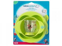 Набор <b>посуды Bebe Confort</b>, (тарелка+<b>миска</b>+стакан+ложка+вилка)