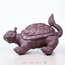 Фигурка Черепаха-<b>дракон</b>, исинская глина, <b>12 см</b>