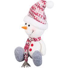 <b>Фигурка декоративная</b> «Снеговик в шапке и шарфе», 20 см в ...