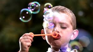 Image result for kid blowing bubbles