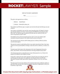 sample debt settlement agreement sample settlement letter