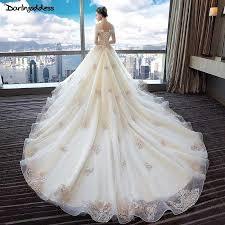 <b>Vestido de Noiva 2018</b> Appliques Lace Royal Train Wedding Dress ...