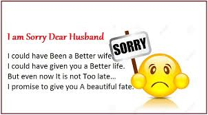 I am sorry messages for husband - Apology Quotes