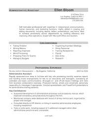 example of administrative assistant resume resume examples  example of administrative assistant resume
