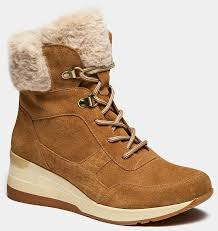 <b>Высокие ботинки</b> женские RENE (цвет бежевый, спилок ...