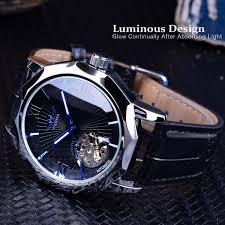 Blue Ocean Transparent <b>Skeleton Dial</b> Men's Luxury <b>Automatic</b> ...