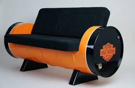 <b>Vintage</b>-<b>Style</b> Sofa Made Out of Two <b>Reclaimed</b> Oil Drums | <b>Vintage</b> ...