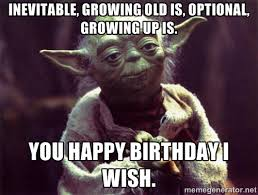 inevitable, growing old is, optional, growing up is. You happy ... via Relatably.com