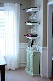bar set up for a small space i would do this with the diy wine black mini bar home wrought