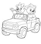 Онлайн раскраска машины для малышей