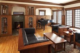 american craftsman furniture living room craftsman with beige wall black leather american craftsman style