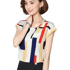 Women <b>Spring Summer Style Chiffon</b> Blouses Shirts Casual Simple ...
