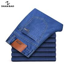<b>Men's</b> brand jeans 2019 autumn and winter <b>new high quality</b> cotton ...
