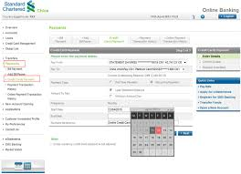 credit card payment ways to bank standard chartered bank recurring payment