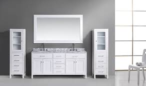 vanity sets sink white quot london double sink vanity set in white with two matching linen ca