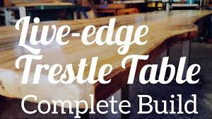 edge cherry dining table trestle live edge trestle dining table complete build