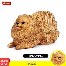 Oenux Classic Lovely Pomeranian Dog Animal Model <b>Kawaii Pet</b> ...