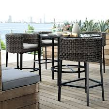 bar height patio chair: patio furniture sets bar height for stand party casual party or cocktail party now updated in various styles and design for a home in an urban area it