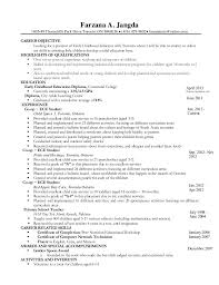 resume for child care child care resume template resume resume farzana a jangda 1605 49 thorncliffe resume for childcare
