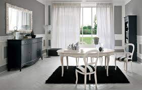 Mirror For Dining Room Wall Awesome Black Fur Dining Room Rug Decoration Under White Dining