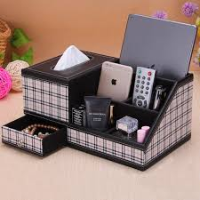 <b>Fashion</b> PU leather desktop remote control storage box <b>tissue box</b> ...