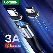 Ugreen <b>Magnetic</b> Type C <b>Cable</b> 3A <b>Fast</b> Micro <b>USB</b> Charging <b>Data</b> ...