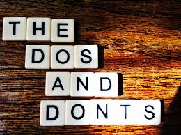 Image result for do and don'ts