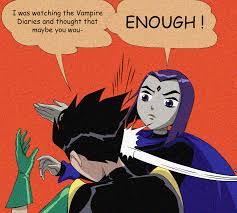 Raven Slapping Robin | My Parents Are Dead / Batman Slapping Robin ... via Relatably.com