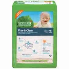 Seventh Generation <b>Free & Clear</b> Size 2 <b>Diapers</b>