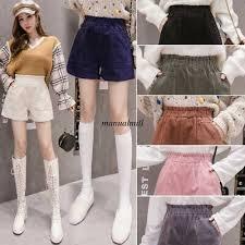 <b>Korean</b> Fashion <b>Women</b> Corduroy High Waist Pockets <b>Shorts</b> ...
