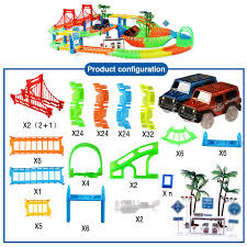 <b>Connect 2 Type Railway</b> Magical Racing Track Play Set DIY Bend ...