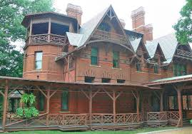 focus on architecture photos of the mark twain house