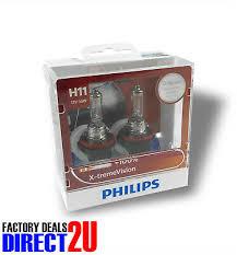 Genuine PHILIPS Extreme Vision <b>H11</b> Globe <b>12V 55W PGJ19</b>-<b>2</b> ...