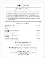 resume format hotel industry professional resume cover letter sample