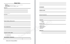 resume example   blank cv resume form to print  blank cv    blank cv resume form to print blank cv template download