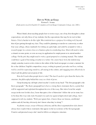 how to write an essay in college template how to write an essay in college