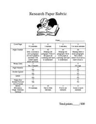 High school science research paper rubric