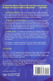 film analysis a norton reader amazon co uk jeffrey geiger film analysis a norton reader amazon co uk jeffrey geiger r l rutsky 9780393979831 books