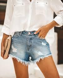 <b>Old Soul</b> Distressed Denim Cut Off Shorts – VICI