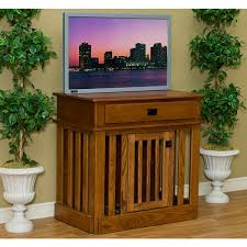 amish wood dog crate entertainment center furniture style dog crates