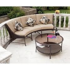 Savannah Metal And Woven Deep Seating Outdoor Sectional Sofa Set Seats 3